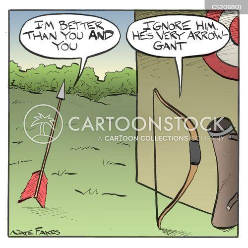 bow and arrows cartoon