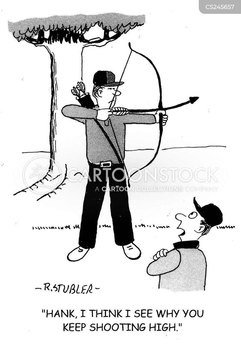 bows and arrows cartoon
