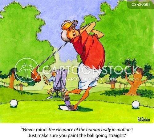 golf green cartoon