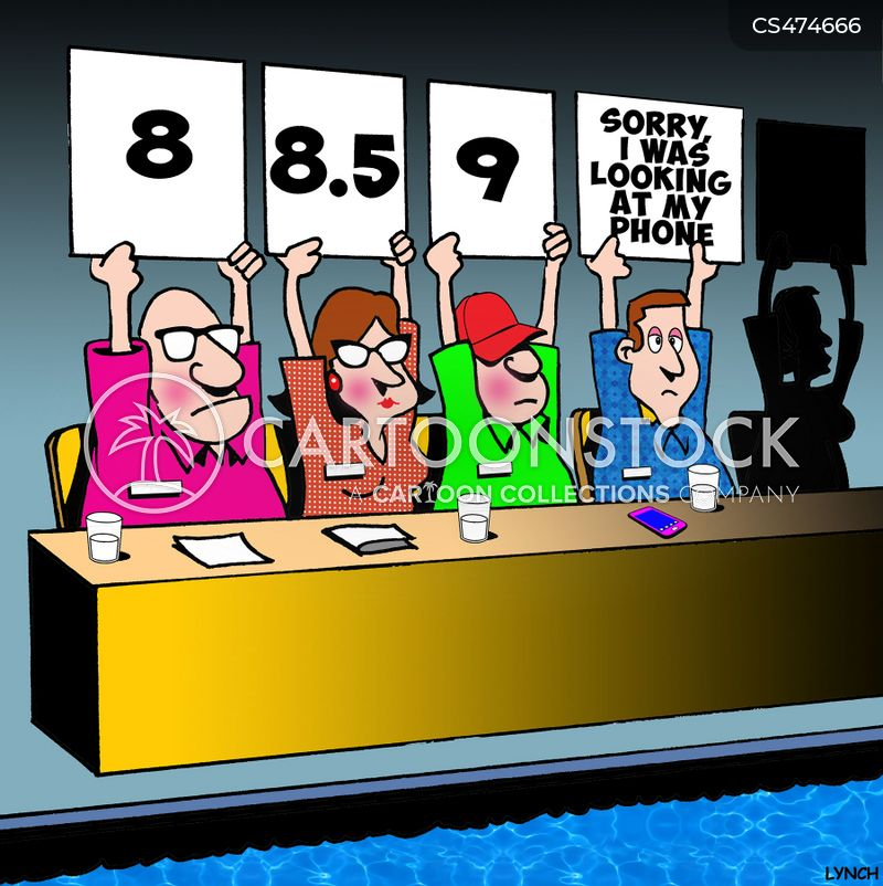 diving competitions cartoon