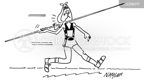 javelin throwers cartoon