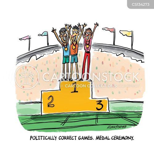 medal ceremony cartoon