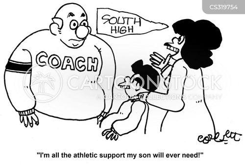 coaching teams cartoon