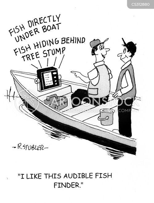 fishing technology cartoon