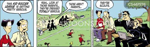 soccer coaches cartoon