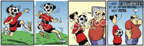 soccer clubs cartoon