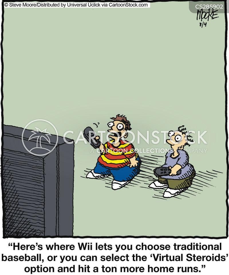 video gaming cartoon