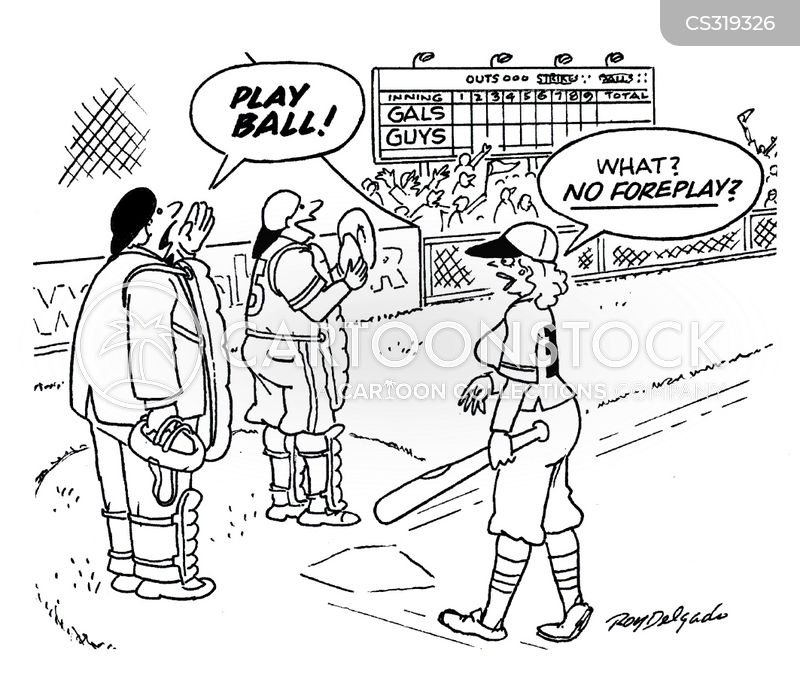 plays ball cartoon