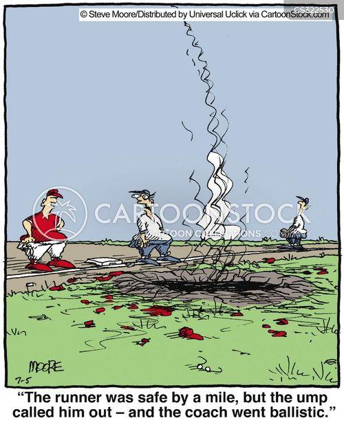 major league baseball cartoon