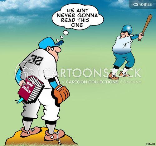 curve ball cartoon