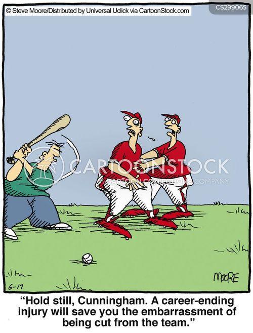 baseballer cartoon