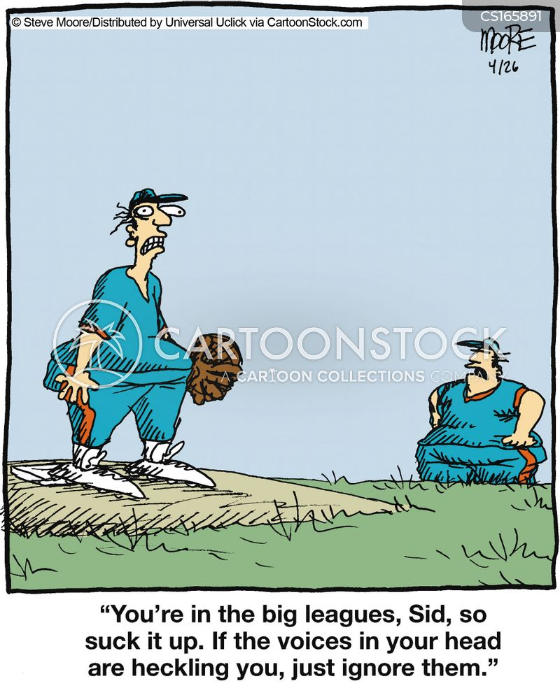 big league cartoon