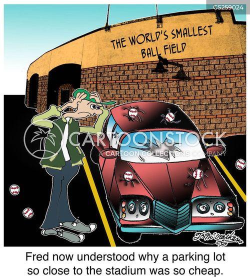 baseball stadium cartoon