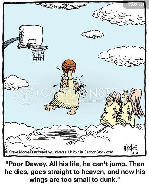 dunking cartoon