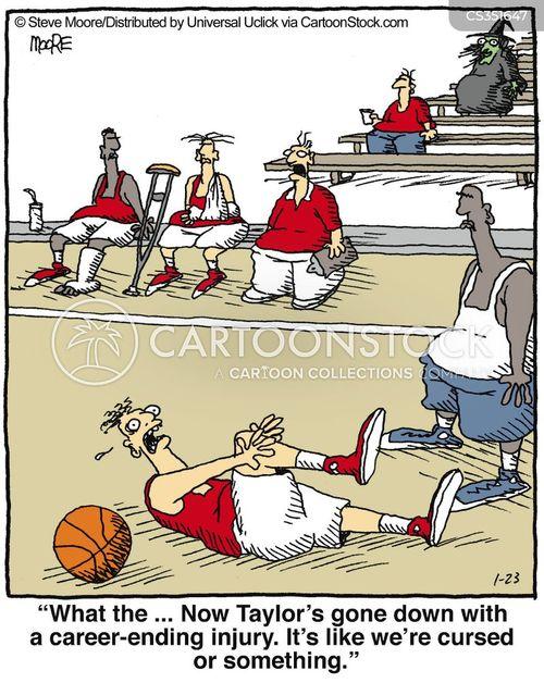 basketball courts cartoon