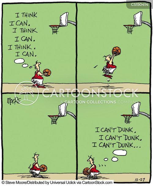 playing basketball cartoon
