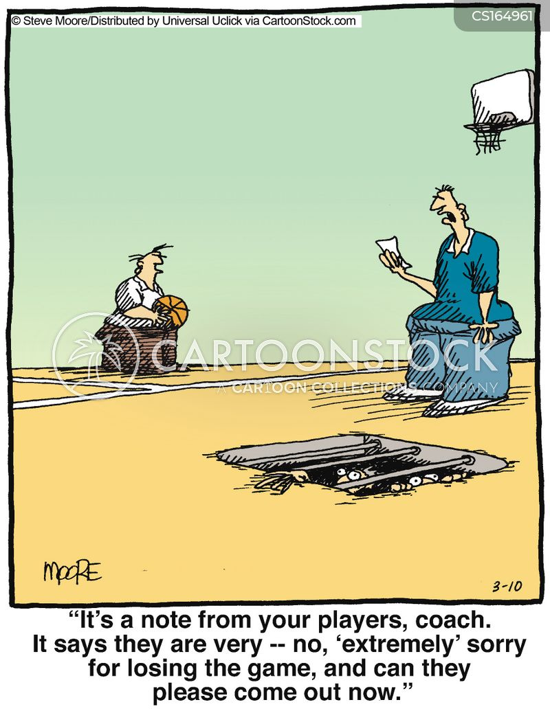 coached cartoon