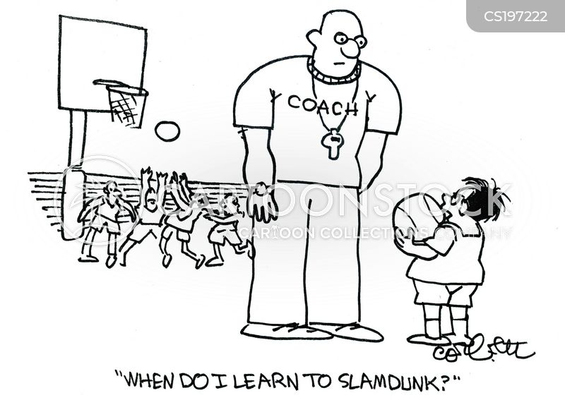 basketball matches cartoon
