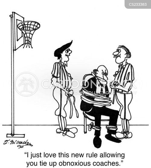 basketball coach cartoon