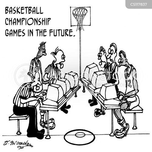 basketball referee cartoon