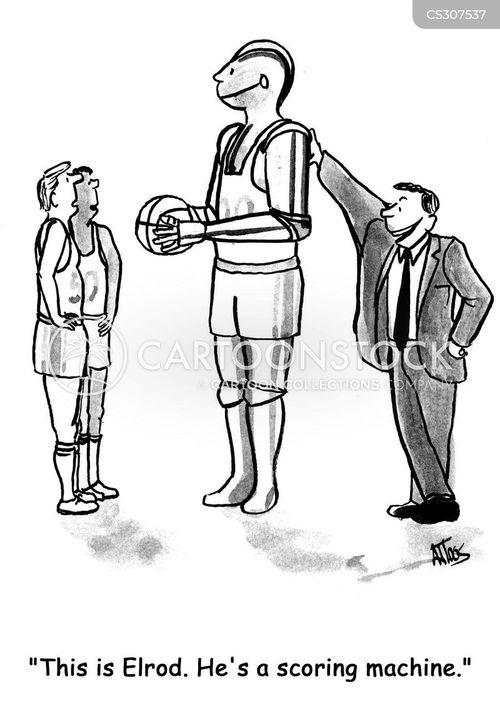 sports technology cartoon