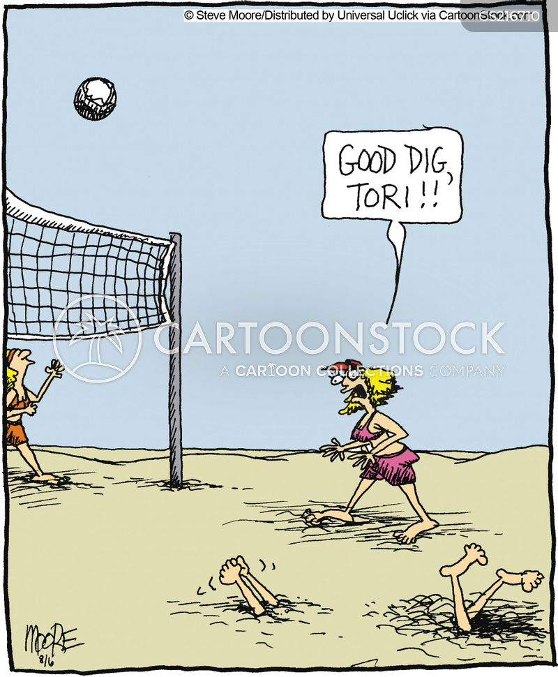 beach sport cartoon
