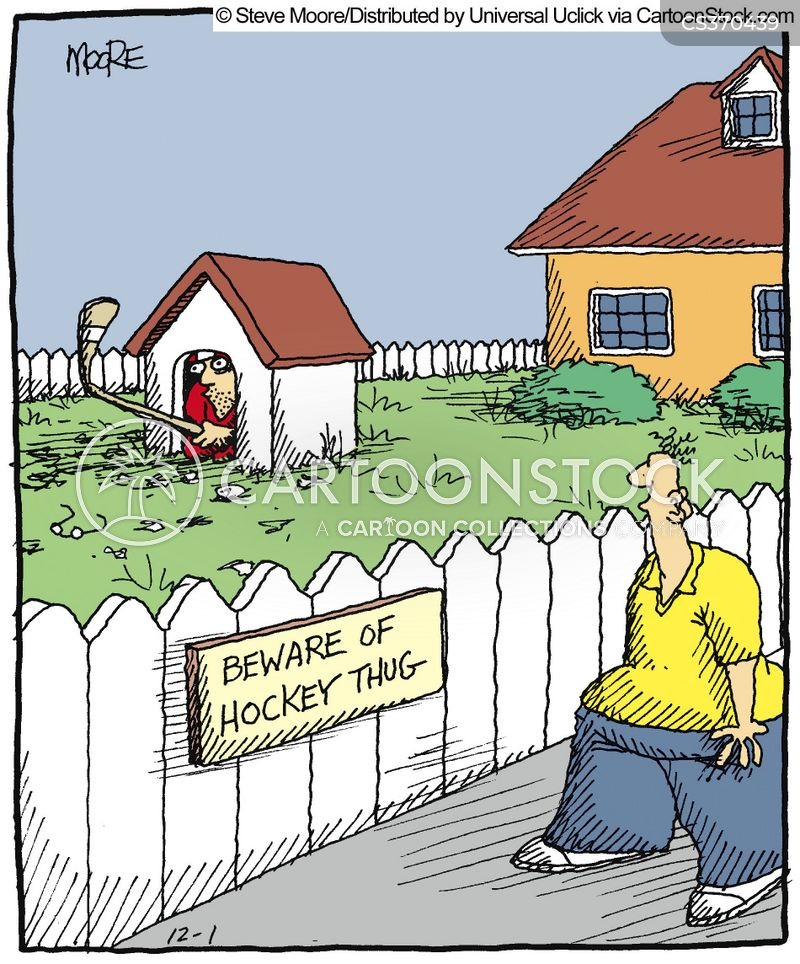 ice hockey players cartoon