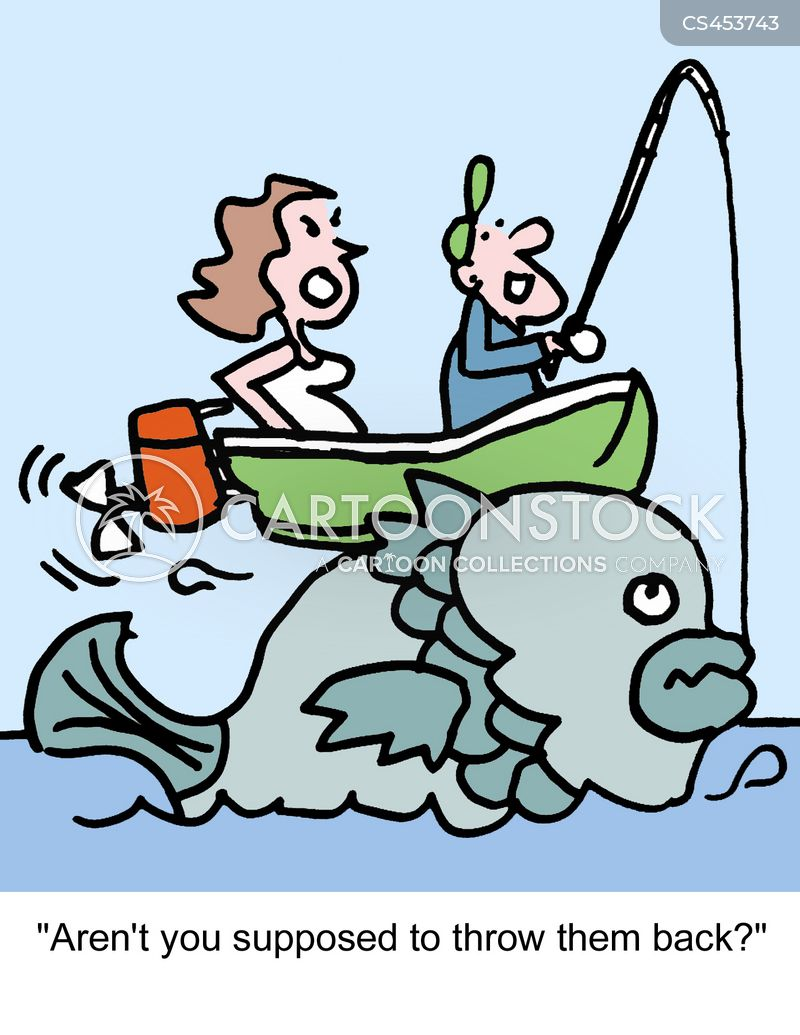 Caught A Fish Cartoons And Comics Funny Pictures From Cartoonstock