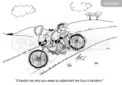 tandems cartoon