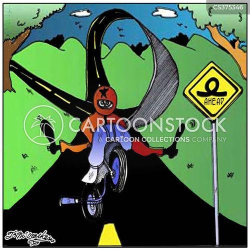 motorcyclists cartoon