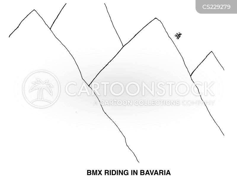 bmx bikes cartoon