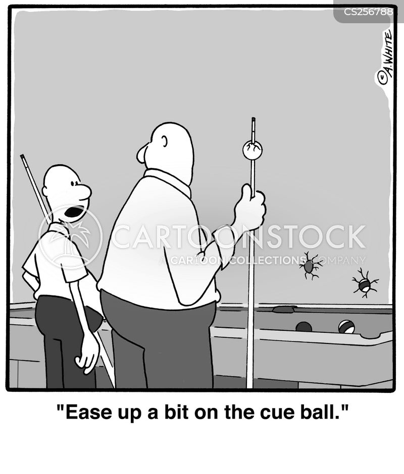 cue ball cartoon