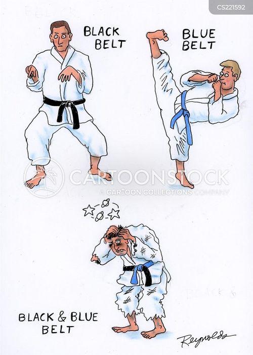 karate practice cartoon