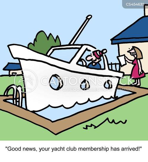yacht clubs cartoon