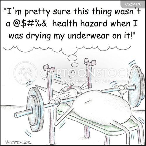 gym supplies cartoon