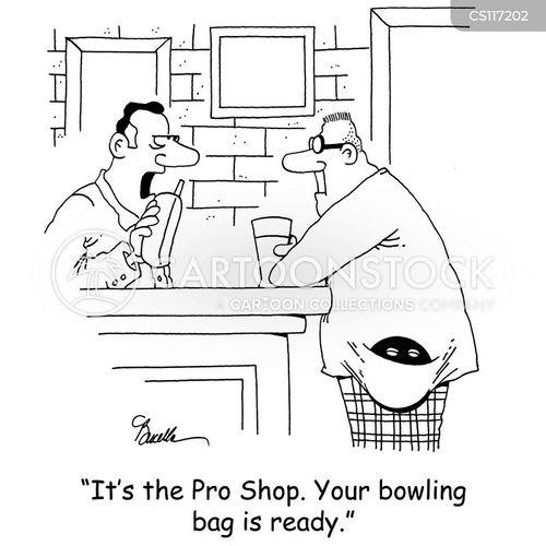 bowling bag cartoon