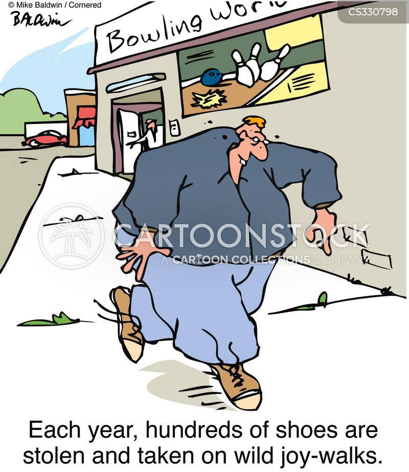 Bowling Shoes Cartoons and Comics - funny pictures from CartoonStock