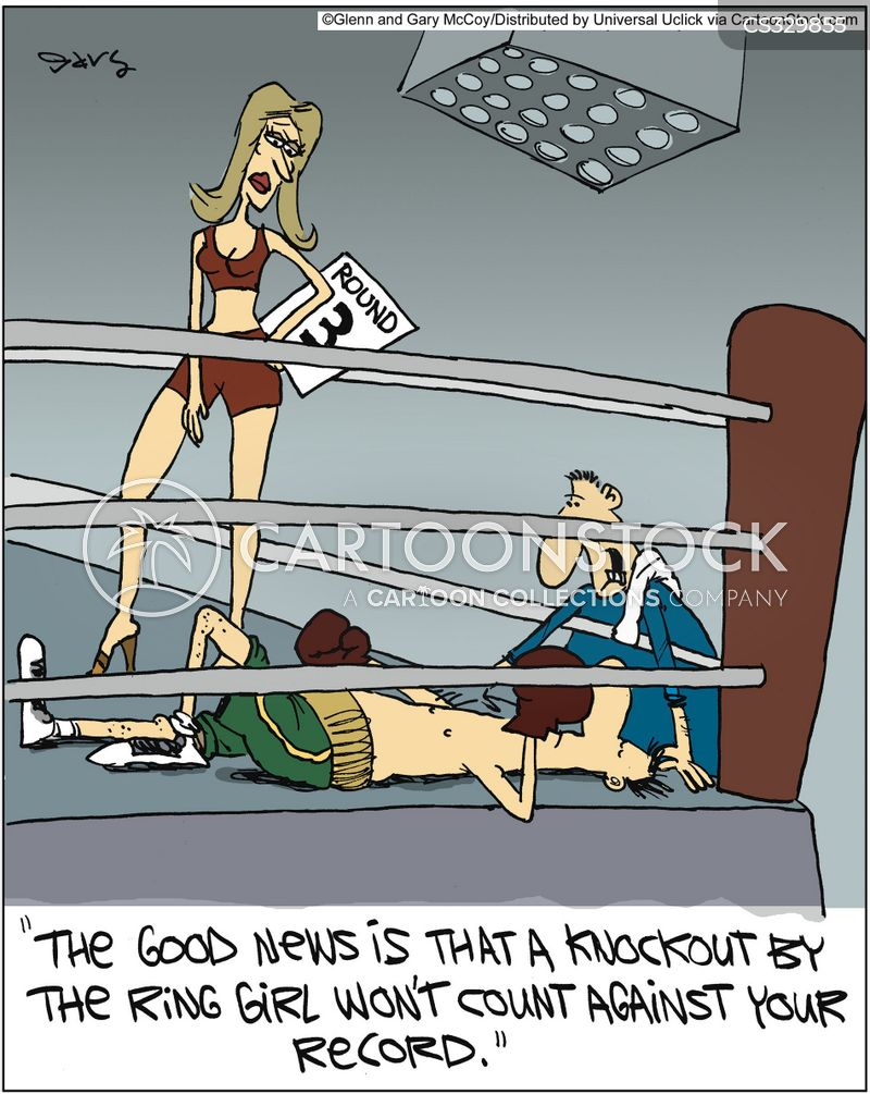 knocks out cartoon