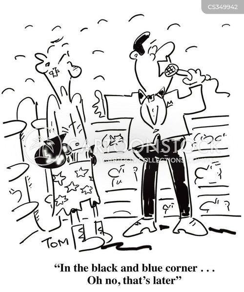 boxing ref cartoon