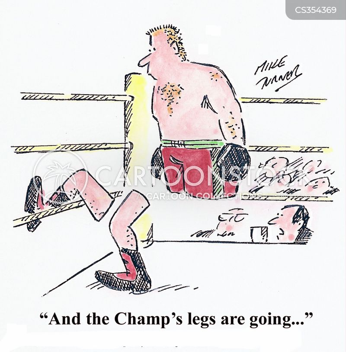 boxing referee cartoon