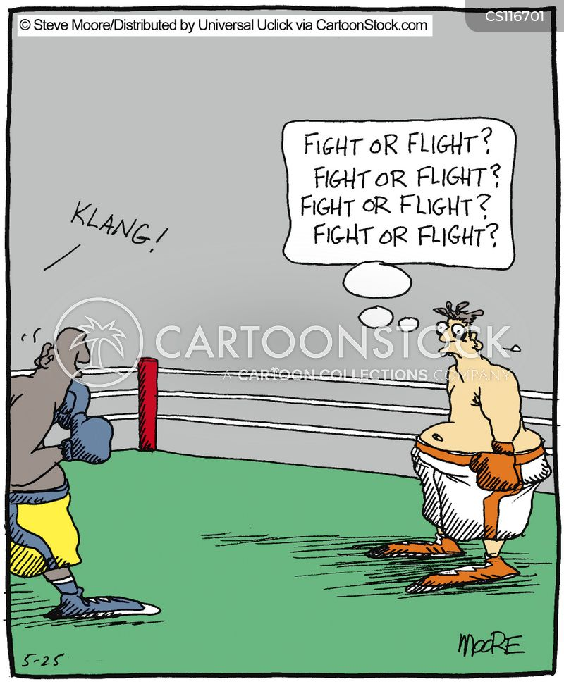 fighting cartoon