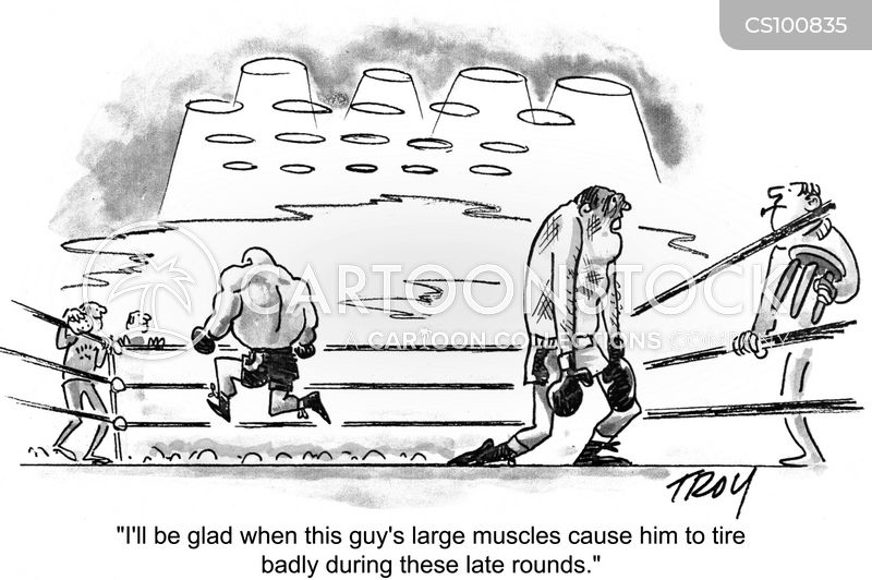 muscly cartoon