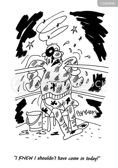 beating up cartoon