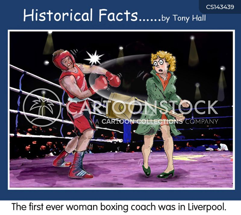 boxing coaches cartoon