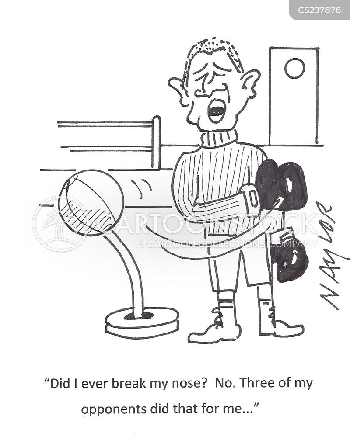 broken noses cartoon