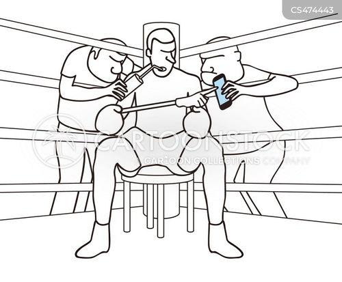 boxing manager cartoon