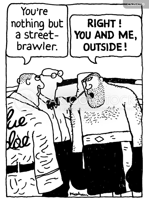 fighting skill cartoon