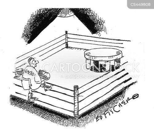 small boxer cartoon