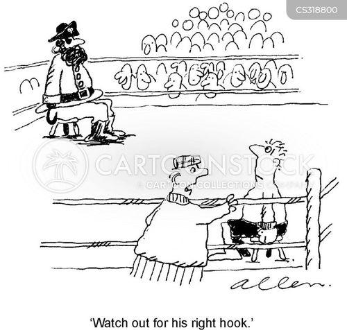right hook cartoon