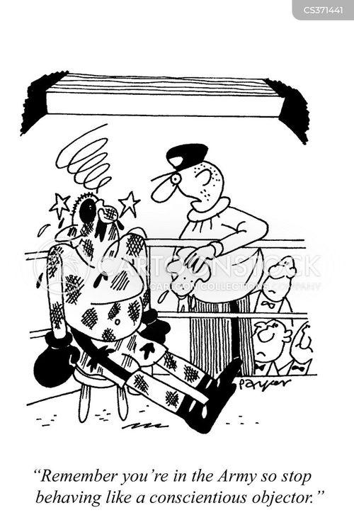 conscientious objectors cartoon